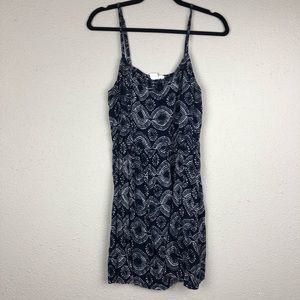 Roxy Navy Blue Printed Dress XL